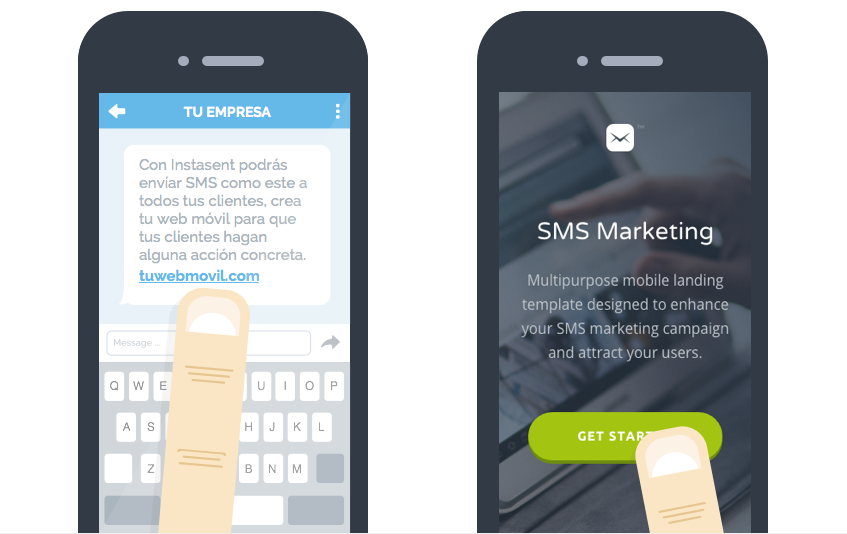 Ejemplo de acción de marketing por sms