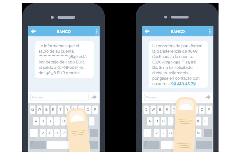 Ejemplo de consulta de saldo por SMS