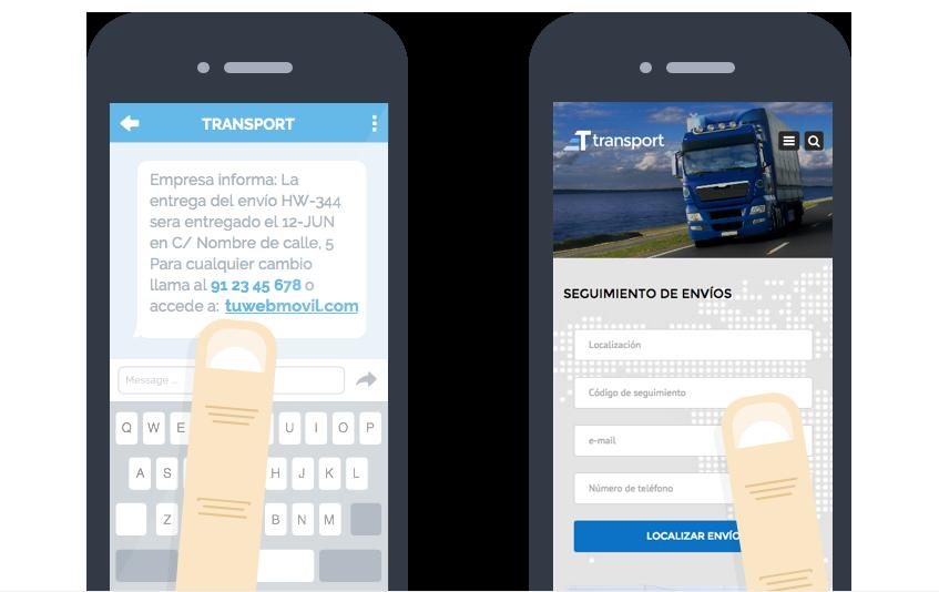 Envío de SMS para logística