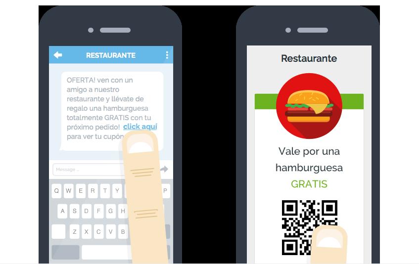 Ejemplo de sms con oferta de restaurante